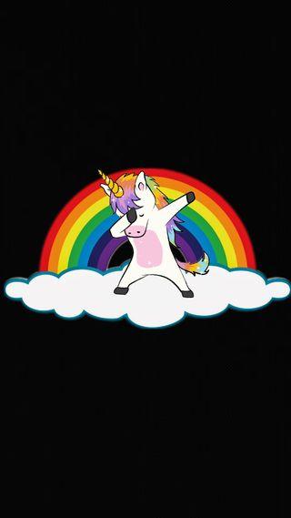 Обои на телефон цветные, сверкающие, радуга, облака, мистика, красочные, единорог, даб, sparkly, dabbing