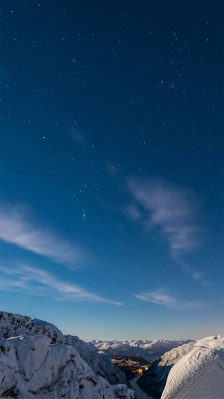 Обои на телефон небеса, звезда, горы