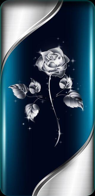 Обои на телефон девчачие, цветы, цветочные, синие, симпатичные, серебряные, светящиеся, сверкающие, розы