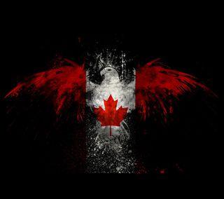 Обои на телефон флаг, канада