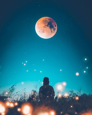 Обои на телефон планета, ночь, микс, луна, звезды, mac, gente