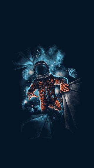 Обои на телефон парень, космос, забавные, аниме, space guy
