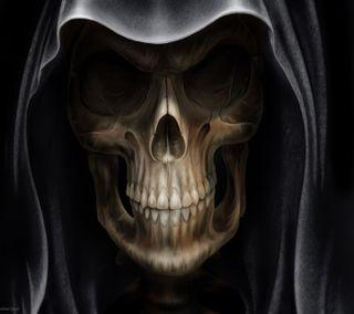Обои на телефон череп, призрак, ghost