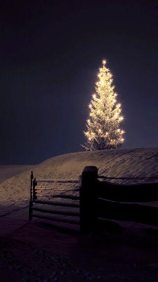 Обои на телефон рождество, ночь