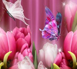 Обои на телефон бабочки, цветы, цветочные, флора, приятные, природа, небо, деревья, дерево