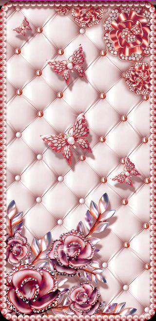 Обои на телефон девчачие, цветы, цветочные, симпатичные, розовые, прекрасные, жемчужина, жемчуг, бабочки, butterfly pearl