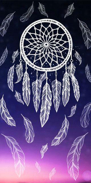 Обои на телефон перья, синие, мечта, ловец
