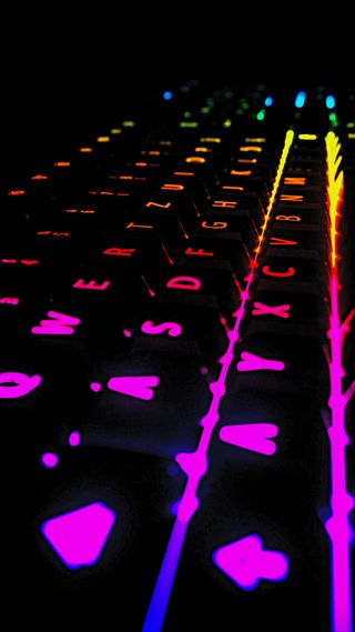 Обои на телефон игровые, технологии, ночь, неоновые, клавиатура, геймер, pc, hardware, backlit