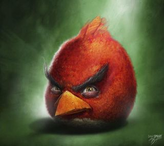 Обои на телефон анимационные, птицы, мультфильмы, игра, злые, realistic angry bird, realistic