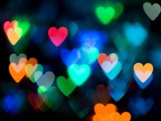 Обои на телефон боке, сердце, свет, милые, любовь, love
