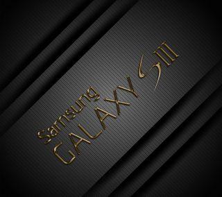 Обои на телефон galaxy, samsung, galaxy s3 by marika, черные, логотипы, галактика, самсунг, золотые, карбон, металлические