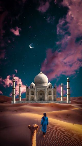 Обои на телефон изображения, мечеть, the sahara