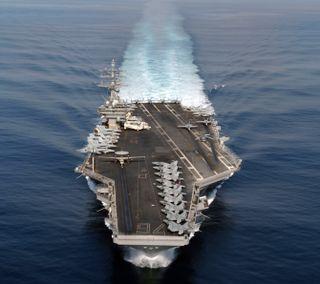 Обои на телефон aircraft carrier, синие, вода, корабли, военно морские, самолет