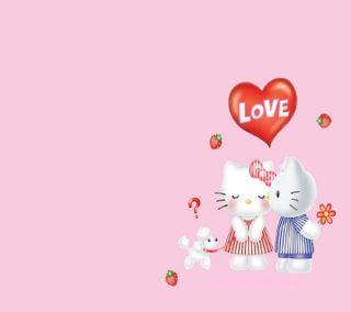 Обои на телефон привет, любовь, котята, hello kitty love, hello