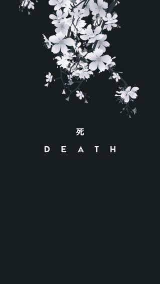 Обои на телефон японские, смерть, kanji
