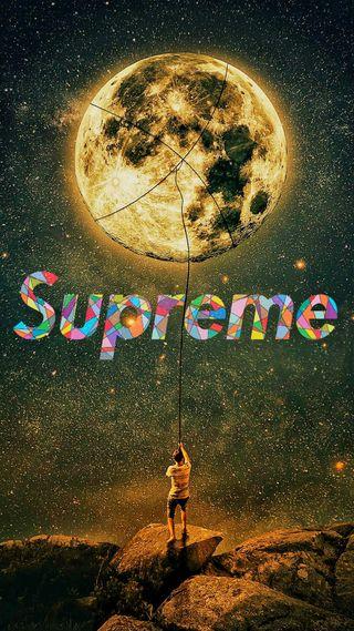 Обои на телефон планета, луна, звезды, галактика, вселенная, uhd, supreme, galaxy