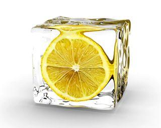 Обои на телефон лимон, куб, лед, 3д, 3d