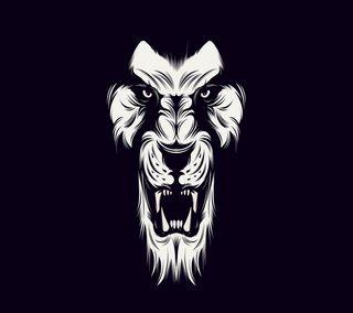 Обои на телефон черные, лев, белые