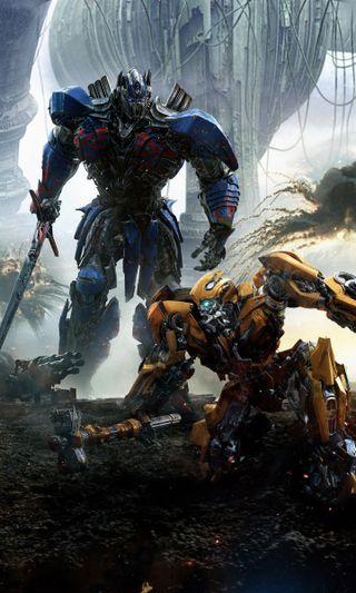 Обои на телефон рыцарь, фильмы, трансформеры, прайм, постер, оптимус, бамблби, transformers last knight, transformers 5