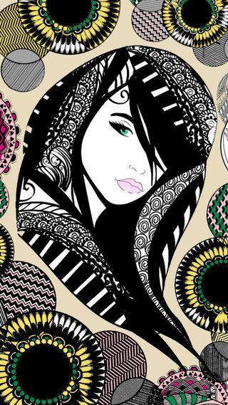 Обои на телефон мандала, шаблон, женщина, бохо, абстрактные, zentangle, gypsy