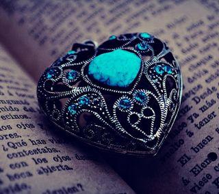 Обои на телефон слова, сердце, любовь, книга, бирюзовые, pendant, love