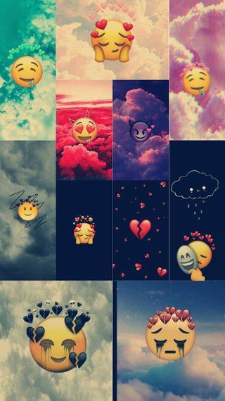 Обои на телефон эмоджи, приключение, любовники, время, emoji lovers