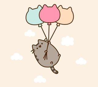 Обои на телефон шары, пушин, неко, кошки, каваи, kawaii neko3