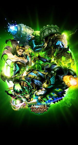 Обои на телефон bang bang, grock, green mobile legends, зеленые, легенда, мобильный, легенды