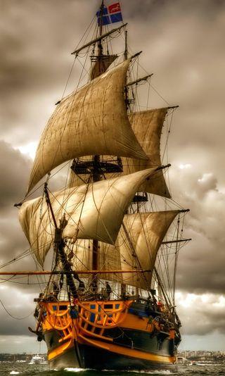 Обои на телефон sailing ship, вид, корабли, превосходный, парусные