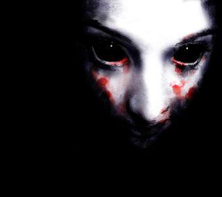 Обои на телефон art, черные, темные, арт, лицо, ужасы, глаза, рисунки, кровь