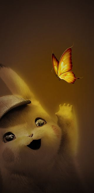 Обои на телефон пикачу, смайлики, милые, любовь, инстаграм, желтые, бабочки, pika, love, 4k