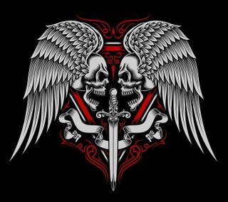Обои на телефон крылья, череп, vvsfh, skulls and wings, jsjgd