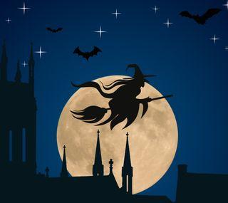 Обои на телефон ведьма, хэллоуин, samhain