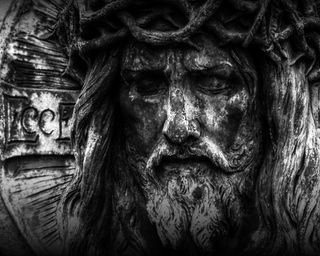 Обои на телефон крест, черные, лицо, исус, дух, bw jesus