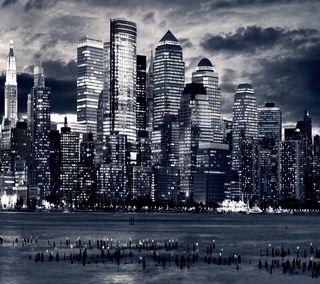 Обои на телефон домашний экран, экран блокировки, город, горизонт, city skyline