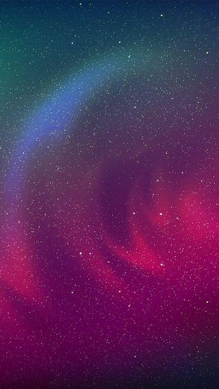 Обои на телефон светящиеся, космос