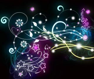 Обои на телефон фантазия, черные, цветы, красочные, звезды, абстрактные, untitled