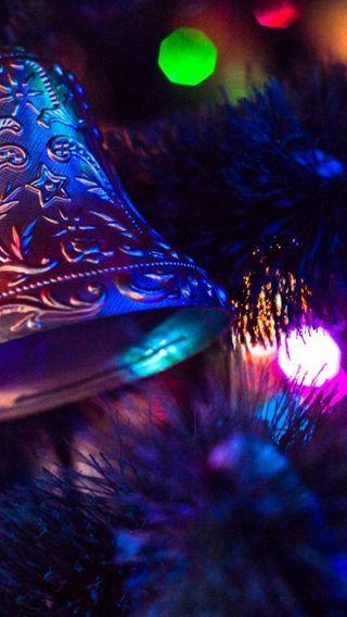 Обои на телефон макро, украшение, рождество