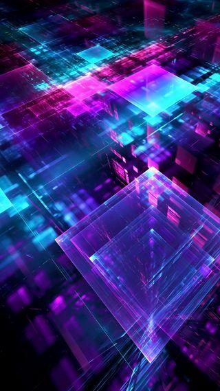 Обои на телефон техно, квадраты, геометрия, абстрактные