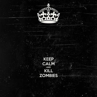 Обои на телефон черные, спокойствие, зомби, keep calm