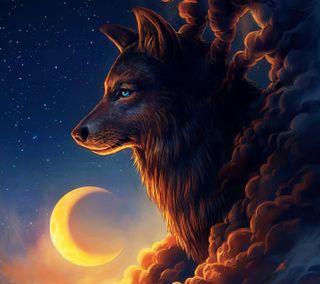 Обои на телефон дух, волк, wolf spirit, timber