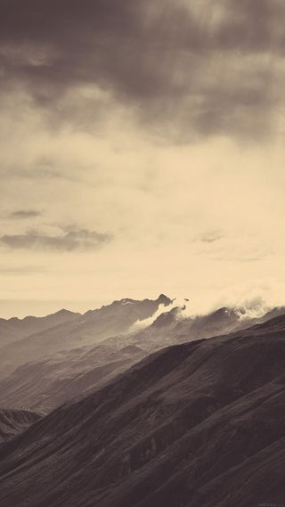 Обои на телефон туман, пейзаж, горы, вид, айфон, iphone