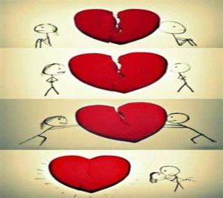 Обои на телефон сломанный, сердце, поговорка, любовь, знаки, love