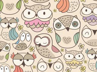 Обои на телефон пастельные, сова, симпатичные, милые, крутые, девчачие