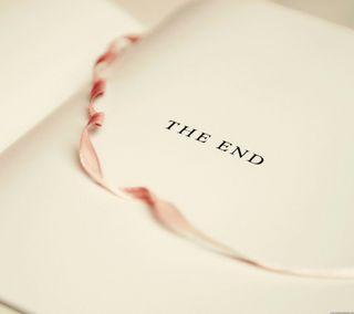 Обои на телефон слово, конец, книга, история, бумага