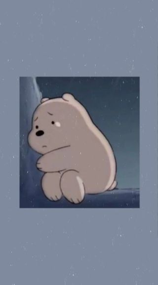 Обои на телефон медведь, эстетические, синие, мультфильмы, грустные, sad cartoon, sad bear, sad asthetic, blue aesthetic