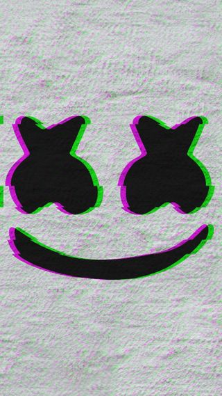 Обои на телефон сбой, черные, розовые, маршмеллоу, зеленые, белые, marshmello x glitch, dope wallpaper