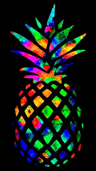 Обои на телефон dye, happ, tye, синие, красые, зеленые, красочные, цветные, желтые, ананас