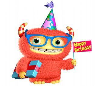 Обои на телефон фан, счастливые, празднование, поговорка, милые, день рождения, monster, happy, 3д, 3d