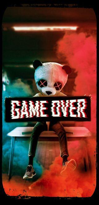 Обои на телефон яркие, ретро, панда, красочные, игры, игра, видео, артистические, over